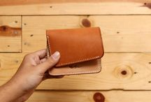 Leather Wallet / This leather wawllet made by midway