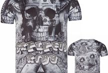 Heren T-shirt Skelet Koning