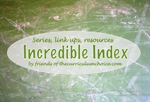 Incredible Index / The best of resources for home, education, life. Pins to only ONE post of a series topic, a category, a link up - for a visual index of helps, how-tos and encouragement!