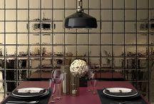 Azulejos | Metal Trend / Tendencias en azulejos de pequeño formato.El lujo sencillo de los acabados metalizados.