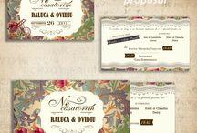 Invitatie de Nunta motive florale , Vintage style / by Eventure Central Store | Toni Malloni, Event Designer & Corina Matei, Graphic Designer www.c-store.ro | www.eventure.com.ro | www.eventina.ro