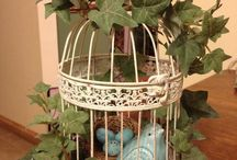 Decorated bird cages