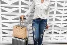 style// T R A V E L / Airport and travel style inspiration. What to wear to fly in. Travel in style with these fashion ideas