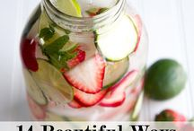 Fruit water + no soda drinks