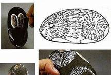 rabbit stone art