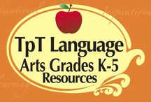TpT Grades K-5 Language Arts / Teachers pay Teachers Grades K-5 Language Arts Resources!  Excellent products for educators, teachers, & homeschool all found at www.TeachersPayTeachers.com.  Excellent products for educators, teachers, & homeschoolers! This is a COLLABORATIVE board.