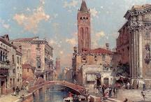 Venice paintings: Untenberger / Franz Richard Unterberger (1838 - 1902), was an Austrian painter.
