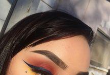 color makeup (makeup) / editorial makeup,no eyeliner