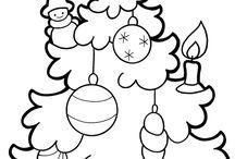 Karácsonyi szinezők