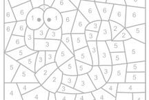 čísla a barvy