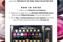 Sephora sweepstakes board   / Sephora nail polish collection. You cannot go to Sephora without buying them  / by Roro Hamwi