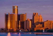 Detroit / Sunrise-sunset-architecture