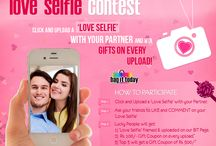 'Love Selfie' Contest! / Love is in the air.. Click a 'love selfie' with your partner, post it/inbox it on our BIT Facebook page, and win surprise gifts! More @ http://on.fb.me/1D8Pj2n / by Bag It Today