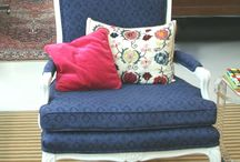 DIY furniture reupholster