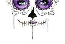 sugar skull party art