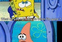 Spongebob & Patrick' crazy adventures.⭐️
