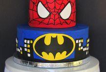 Superhero cakes and cupcakes