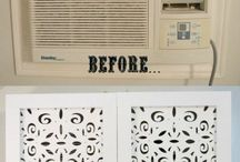 Window air conditioner decor