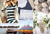 Nautical / Navy Blue & Coral