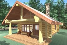 Honeymoon Bay Floor Plan / Many of our log home designs are shown in different styles such as handcrafted or milled. Please click on the link below to see The Honeymoon Bay floor plan in both styles - 600 Sq. Ft. (55.7 sq m) 