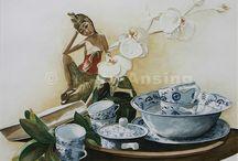 Stillevens / Fijnschilderkunst in acryl
