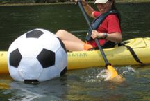 Team Building Exercises on the Lake with Kayaks / Team building can be fun when you take it outdoors!