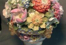 kwiaty porcelana
