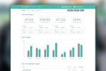 Dashboards + Data Visualisation / Dashboard Design / Webdesign Inspirations.