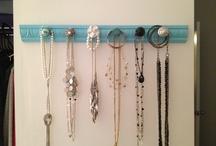 Homemade jewelry hanger