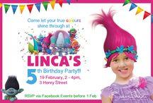 Party invitations / Trolls party invite