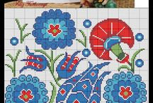 Osmanlı desenleri kanaviçe