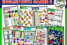 ENGLISH STEP BY STEP WITH GAMES 2 / This pack contains 8 units covering the following themes:   - farm animals and pets,  - wild animals,  - clothes,  - food and drinks,  - jobs,  - school objects, - place prepositions,  - in the house.  http://eslchallenge.weebly.com/english-with-games.html  For further details, email me at sandramendonca-eslchallenge@outlook.pt