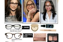 Make up wearing glasses