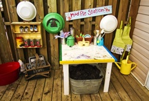 Mud play kitchen