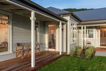 Modern weatherboard villa / Check out this stunning weatherboard villa in New Zealand. It has a colonial aesthetic with contemporary touches.