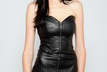 Black leather dresses