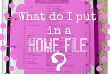 Organised Home Management / Manage your home efficiently with these organising and productivity enhancing tips.