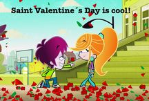 Happy Saint Valentine´s Day! / ¡Feliz Día de San Valentín! / Lucky Fred and Sandra Detective celebrating Saint Valentine´s Day! / ¡Lucky Fred y Sandra Detective festejando el día de San Valentín!