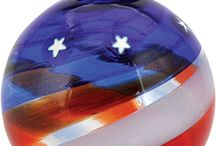 GES Red White and Blue / All Glass Eye Studio products are proudly made in America.