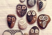 Stones decorated and makes
