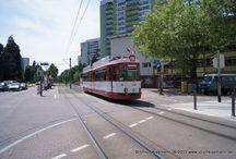 Freiburger Verkehrs AG - Esslinger GT4 / Sie sehen hier eine Auswahl meiner Fotos, mehr davon finden Sie auf meiner Internetseite www.europa-fotografiert.de.