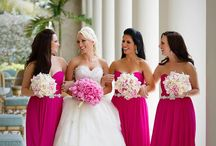 Bridesmaids and maid of honor
