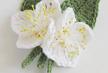 Flowers  knit/crochet  Horgolt virágok