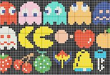 CRAFTS * PIXELATED / patterns for perlers, cross stitch, anything that can be made in a pixelated fashion.