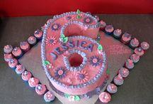 Number Six Cake Designs