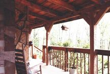 Decks and Porches / Appalachian Log & Timber Homes Client Deck and Porch  Gallery