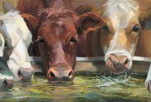 aaaaaaaaArtwork Cows, Pigs, Chickens, Roosters, Goats etc... Paintings