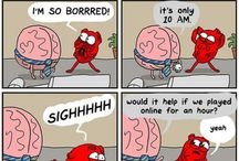 Brain and heart comics