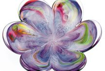Glass Eye Studio Affections / Beautiful Glass Eye Studio affection heart and flower dishes