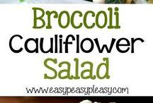 salad brocolli and cauliflower